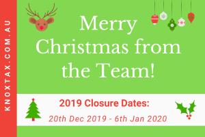 Closure Dates & Merry Christmas