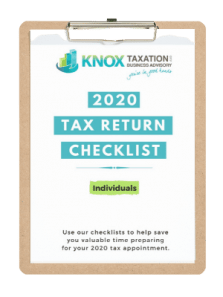 2020 Individual Tax Return Checklist (2)