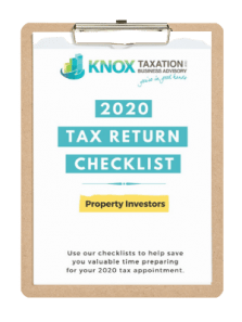 2020 Property Investor Tax Checklist