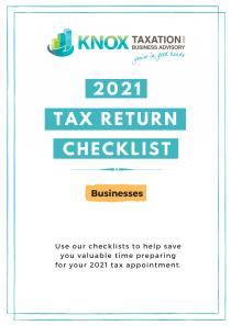 2021 Business Tax return Checklist