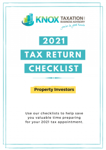2021 Property Investor Tax return Checklist Front Cover